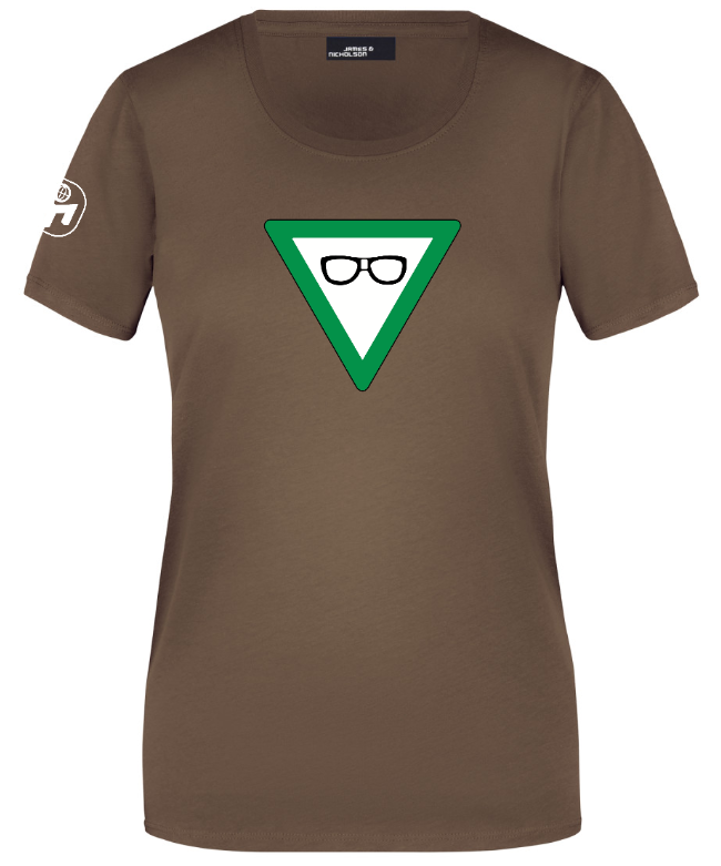 """T-Shirt Damen """"Nerdschutz"""" Standard"""