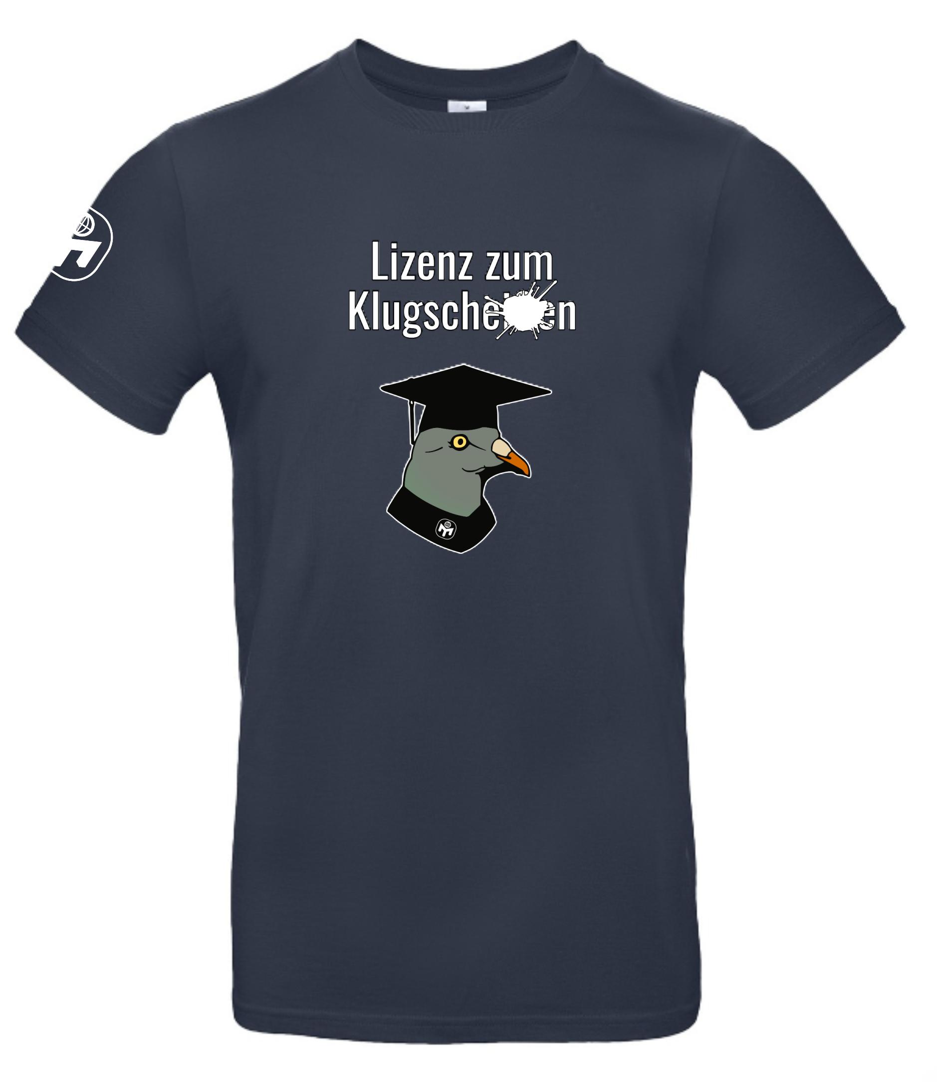 """T-Shirt Herren """"Lizenz zum Klugscheißen"""" Standard"""
