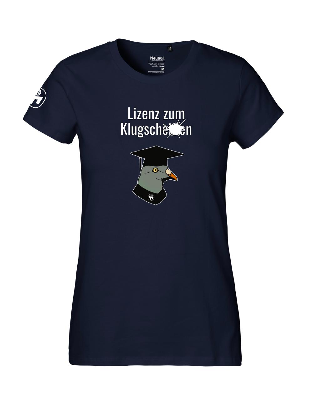 """T-Shirt Damen """"Lizenz zum Klugscheißen"""" Premium"""